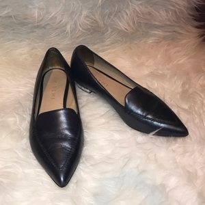 M. Gemi Leather Pointed Flats sz 5
